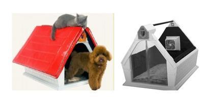 Caseta para mascotas con aire acondicionado