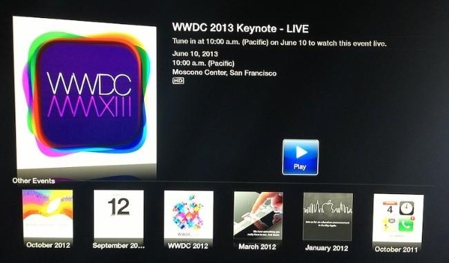 wwdc apple 2013 evento video streaming en directo