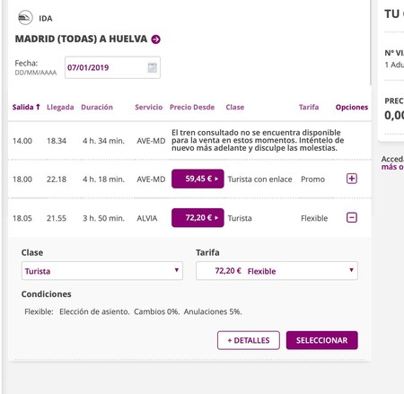 Renfe Huelva Madrid
