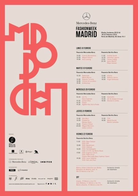 Calendario Mercedes Benz Fashion Week Madrid