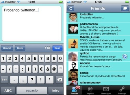 TwitterFon, cliente de Twitter simple y eficaz para el iPhone