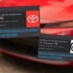 No, ni Toyota ni Volkswagen están regalando autos por aniversario: así funciona el engaño por WhatsApp