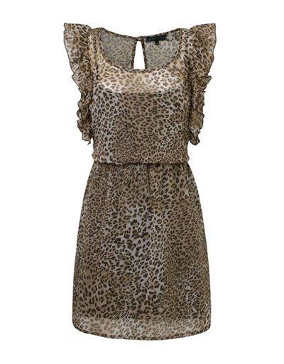 Vestido Stradivarius print leopardo