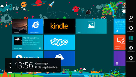 Windows 8.1, barra de Charm