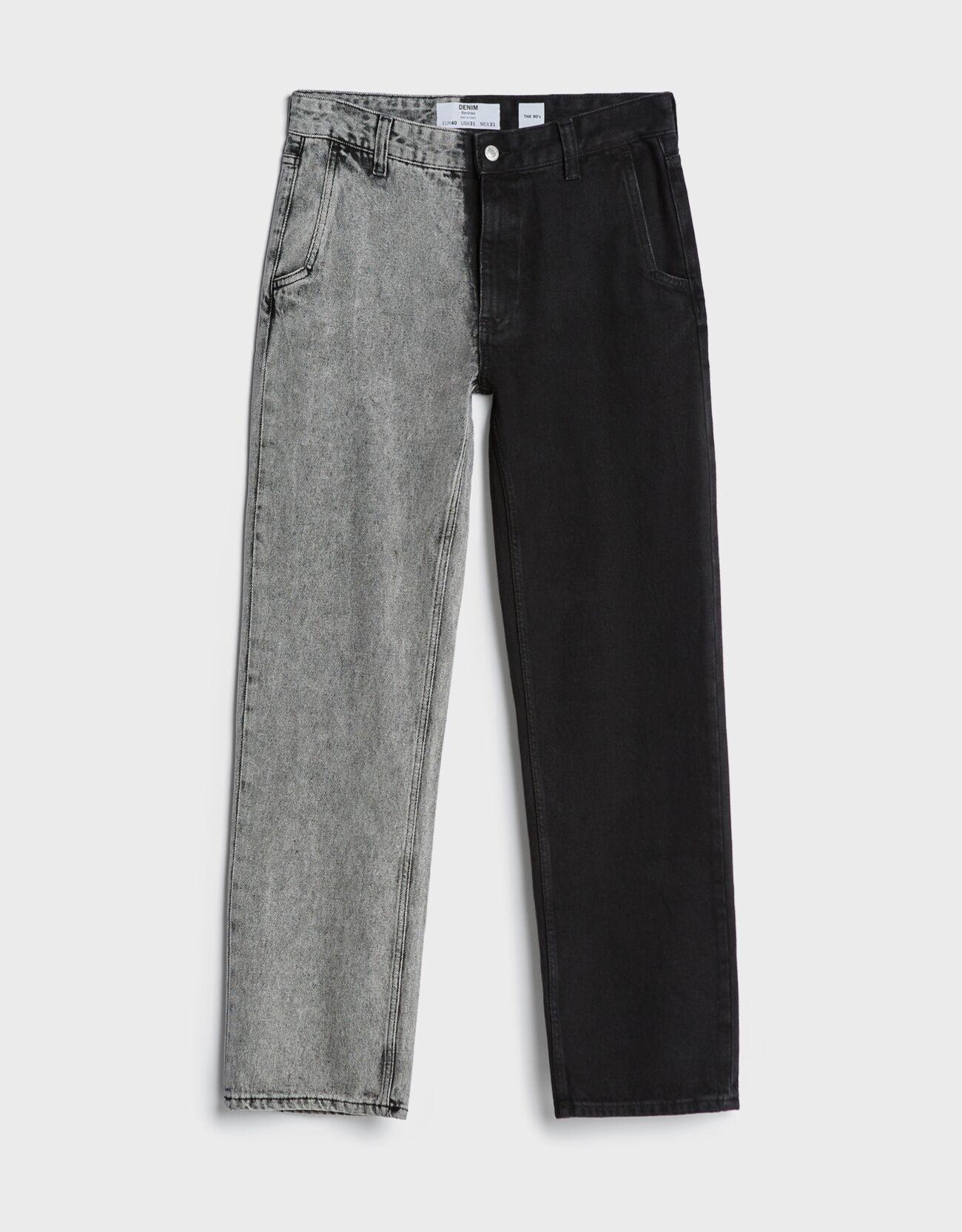 Jeans 90's contraste.