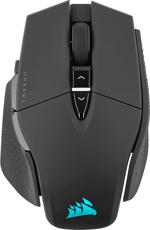 Corsair M65 RGB ULTRA WIRELESS, Ratón Inalámbrico para Juegos FPS Personalizable (Tecnología SLIPSTREAM WIRELESS, Sensor Óptico de 26.000 PPP CORSAIR MARKSMAN, Hasta 120 Horas de Autonomía) Negro