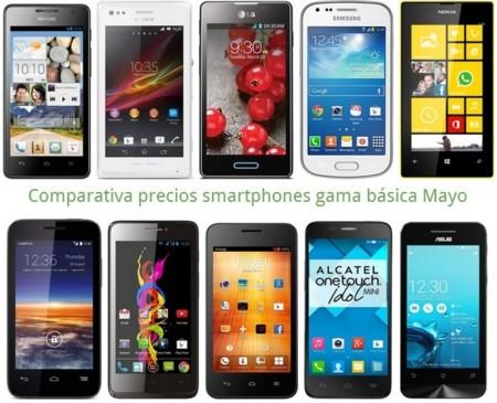 Comparativa precios Lumia 520, Xperia M, Huawei G526 o LG L7 II entre otros gama básica en Mayo y móviles gratis