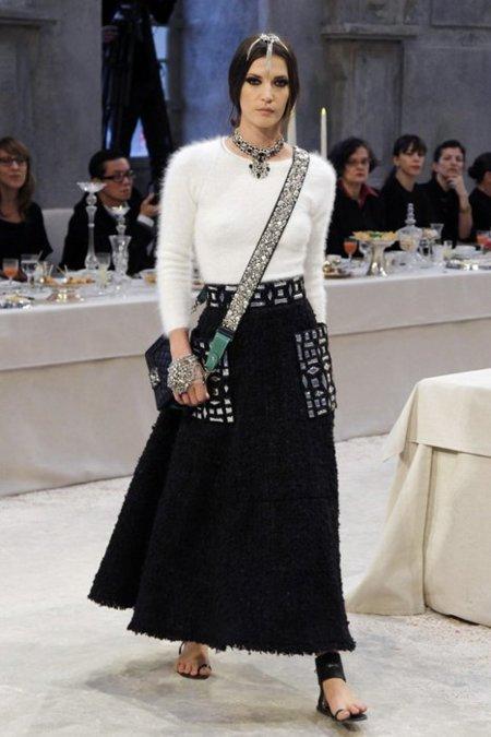 Blanco negro Chanel Pre-Fall 2012