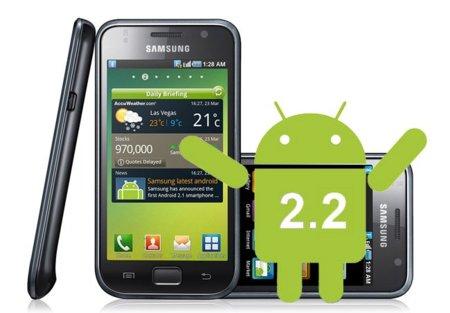 Empieza la actualización del Samsung Galaxy S a Android 2.2
