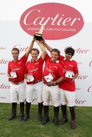 Dubai equipo de polo Cartier
