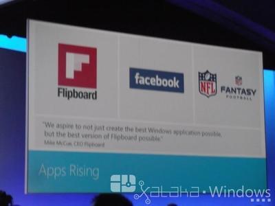 Flipboard y Facebook llegarán para Windows 8
