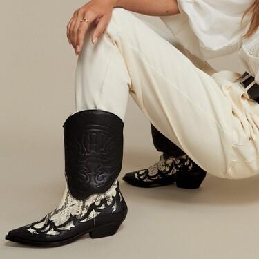 Los botines cowboy de piel más bonitos de esta temporada están de súper rebajas en Mango Outlet y cuestan menos de 50 euros