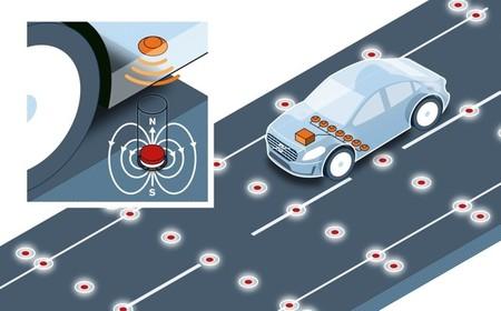 Volvo está probando la instalación de imanes en la calzada para mejorar la conducción autónoma