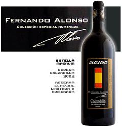 Vinos Colección Fernando Alonso Calzadilla, los vinos de la Fórmula 1