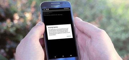 Android P se queja si abres una app para Android 4.1 o inferior