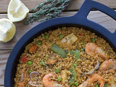 Cómo hacer paella de quinoa. Receta