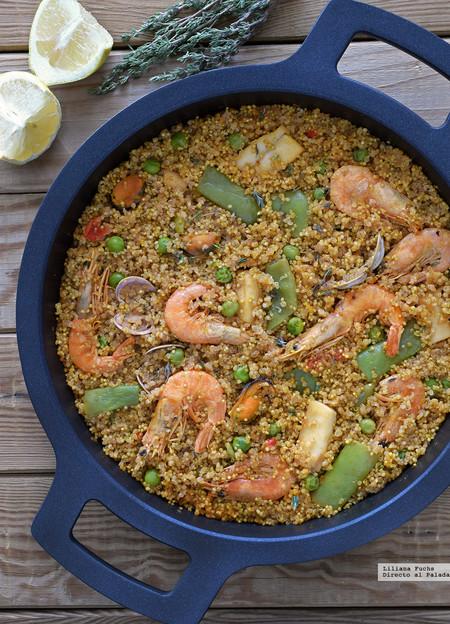 Paella de quinoa receta de cocina f cil sencilla y deliciosa for Como cocinar paella