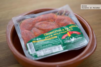Chorizo a la sidra para microondas de Cecinas Pablo. Lo probamos