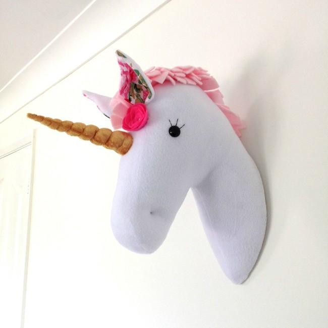 Peluche De Unicornio Para Pared Deco