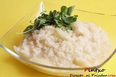 Receta de risotto de cebolla asada y berros