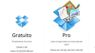 Dropbox dobla el espacio de sus usuarios de pago y lanza un plan de 500 GB