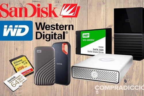 Rebajas en discos duros de sobremesa y portables, SSD internos o tarjetas de memoria en las ofertas en almacenamiento Western Digital y SanDisk de la semana en Amazon