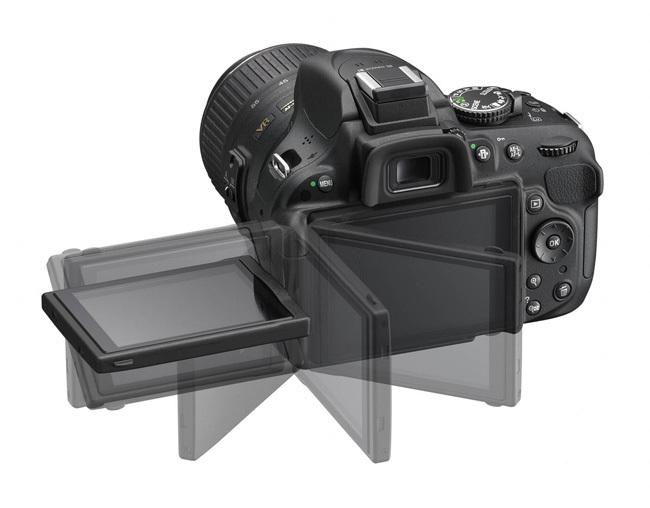 Nikon D5200 vista de pantalla abatible