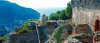Ruinas de Villa Jovis, pasado imperial en lo alto de Capri