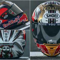 El espíritu del samurai envuelve el casco de Marc Márquez para el GP de Japón