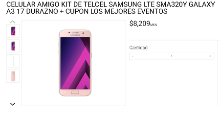 Samsung Galaxy A3 2017 Preventa Mexico
