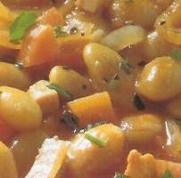 Sopa de judías con tomate al curry