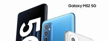Samsung Galaxy M52, un gama media que sorprende gracias a sus excelentes capacidades