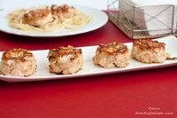 Hamburguesas de salmón y gambas. Receta