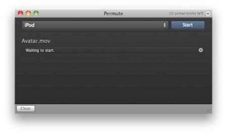 Permute, un minimalista compresor de vídeo