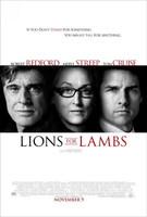 Póster de 'Leones por Corderos' ('Lions for Lambs'), con Robert Redford y Tom Cruise