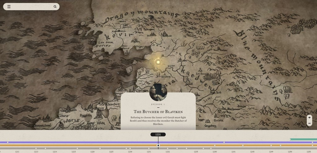 'The Witcher': Netflix launches a handy interactive map to better understand the universe of the series