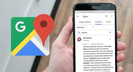 Novedad de Google Maps: busca en las reseñas de un lugar para encontrar la información que te interesa