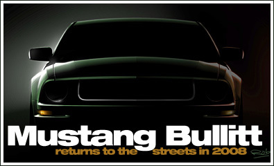 Primer teaser el 2008 Ford Mustang Bullitt