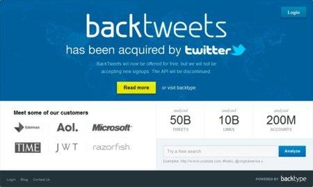 Twitter compra BackType, un completo servicio de estadísticas en tiempo real