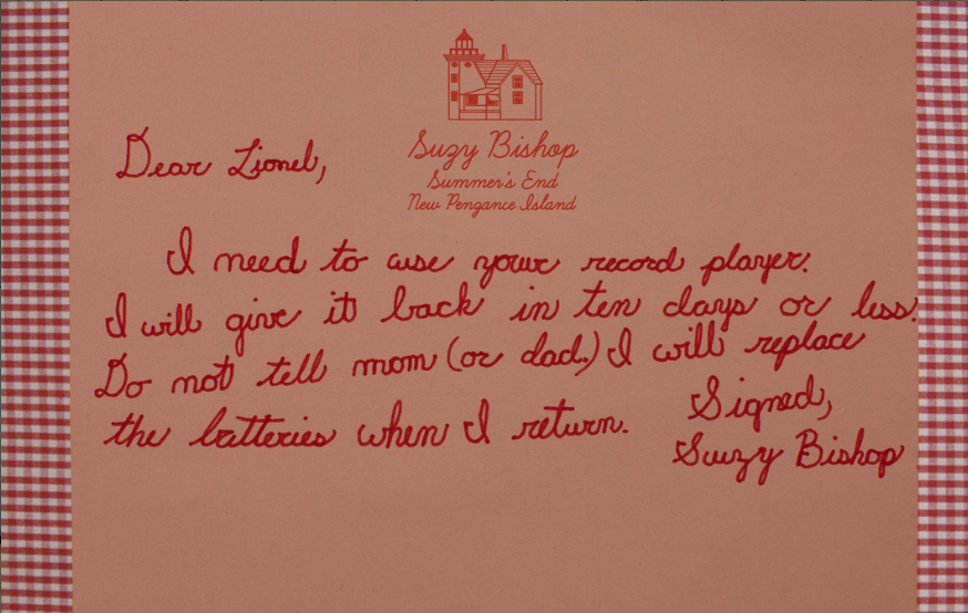 Moonrise Kingdom Letter