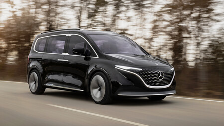 Mercedes-Benz muestra un poco de su Concept EQT, una van eléctrica, futurista y muy elegante