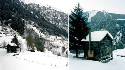 Casas poco convencionales: una cabaña en medio de la nieve