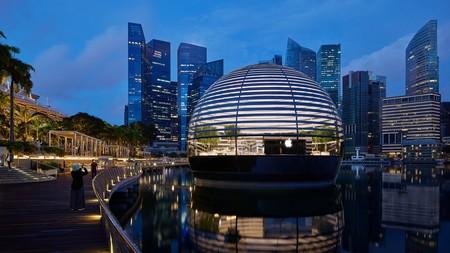 La espectacular Apple Store de Marina Bay Sands en Singapur se inaugura este jueves