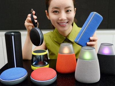 LG apuesta por el diseño atrevido en su nueva gama de altavoces portátiles