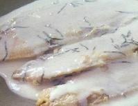Lenguados al queso y albahaca