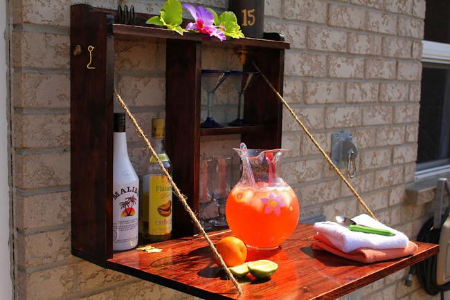 Hazlo t mismo un peque o bar para la terraza - Pintar terraza ...