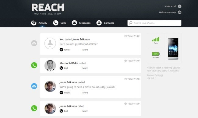 reach notificaciones