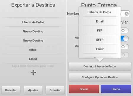 filterstorm herramientas exportar