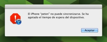 error sincronización wifi iphone itunes ios 5 apple mac os x lion