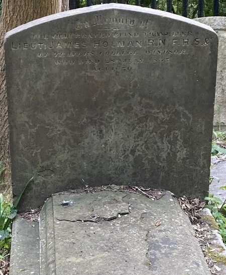 Grave Of James Holman In Highgate Cemetery